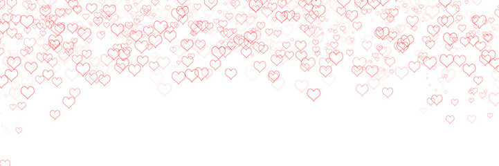 Valentine day hearts with copy space background