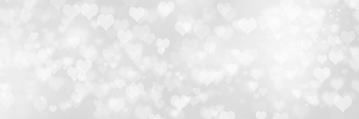 Heart shape Valentine day bokeh background