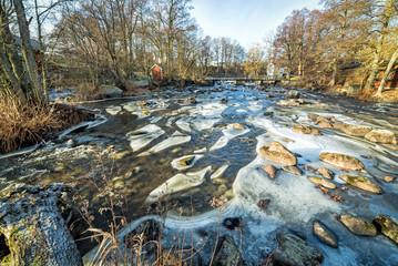 Morrum river in January landscape