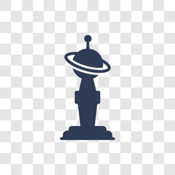 Golden globe icon vector