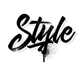 Style. Vector illustration.