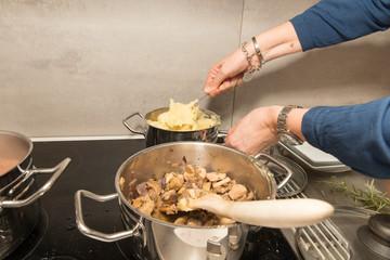 Kochen mit Kochtöpfen