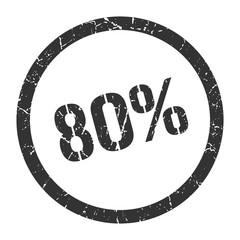 80% stamp