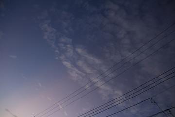 空の縞模様