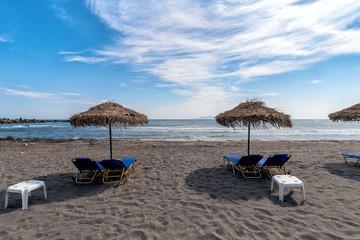 Monolithos beach - Aegean sea - Santorini island - Greece