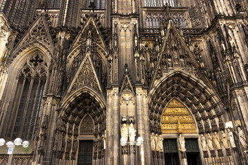 Cologne Cathedral. World Heritage - a Roman Catholic Gothic cathedral in Cologne. Cologne Cathedral. World Heritage - a Roman Catholic Gothic cathedral in Cologne.