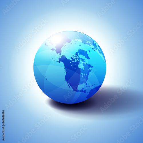 Canada, North America, Siberia and Japan Global World, Globe Icon 3D ...
