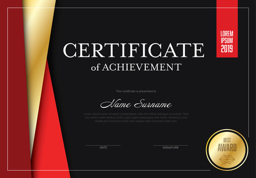 Certificate of Achievement Layout
