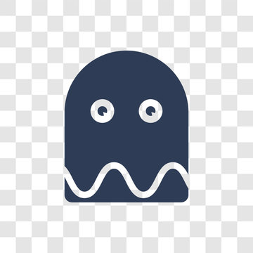 Pacman ghost icon vector