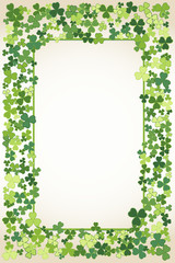 Saint Patrick's Day frame background