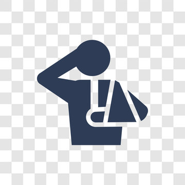 Injury icon vector