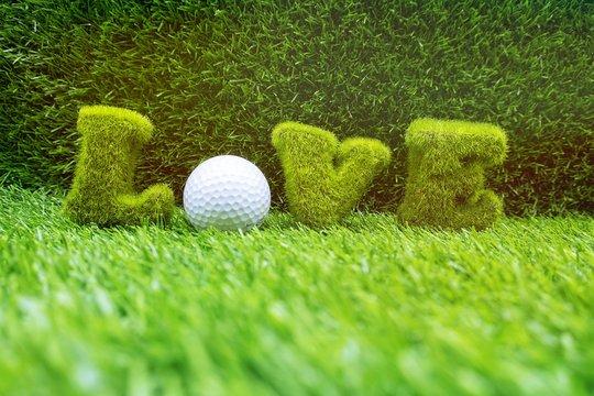 Golf love for golfer on Valentine's Day