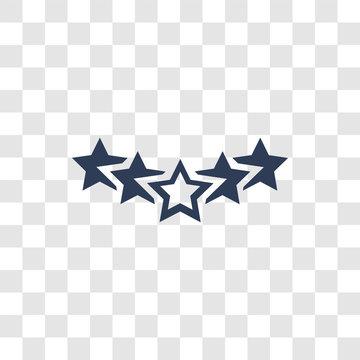 Five stars icon vector