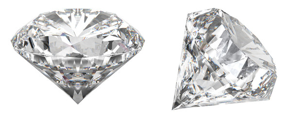A real shot of a diamond that shows the different angles of the diamond. HD picture