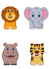 African animal cartoon icon