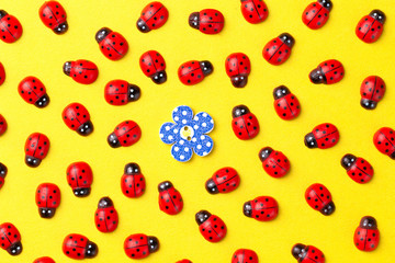 Keuken foto achterwand Lieveheersbeestjes Background with ladybugs