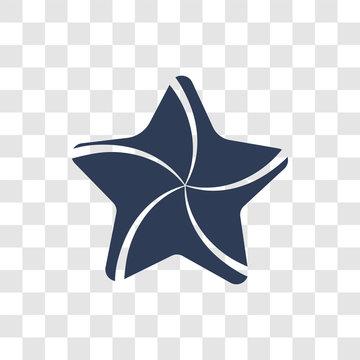 Sea star icon vector