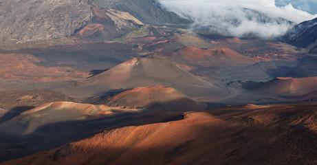 Detail of Haleakala Crater in Maui (Panorama)
