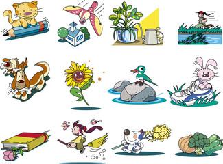 児童書のためのイラストカット集