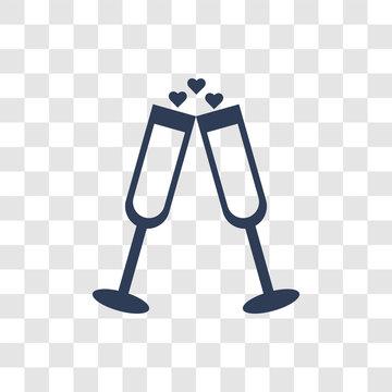 wedding Champagne icon vector