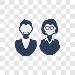 aunt's or uncle's child icon vector