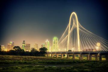 downtown Dallas Texas at night