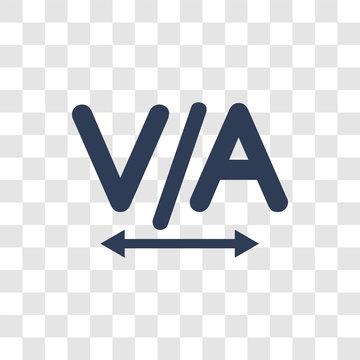 Kerning icon vector