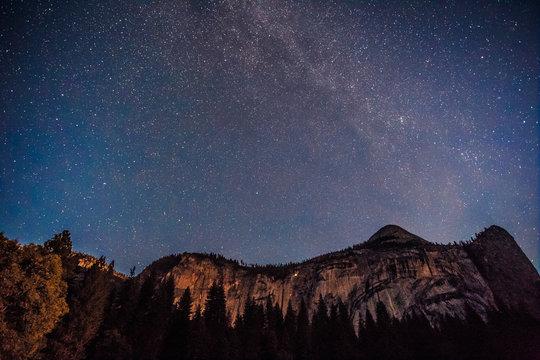 Milky Way over Yosemite, Yosemite National Park, California