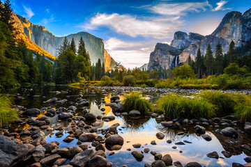 Sunrise on Yosemite Valley, Yosemite National Park, California