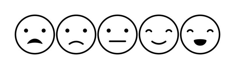 Emoticons mood scale