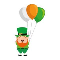 st patricks day leprechaun with balloons helium