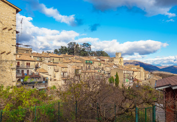 Orvinio (Italy) - A small and charming medieval village of only 387 inhabitants, inserted in the club of the most beautiful villages in Italy; province of Rieti. Here the historical center in stone.