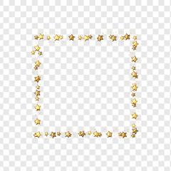 Golden stars isolated on transparent background. vector illustration