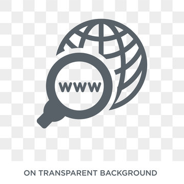 Domains icon. Trendy flat vector Domains icon on transparent background from web hosting collection. High quality filled Domains symbol use for web and mobile