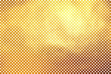Creative modern digital luxurious shinning checkered square / cube grid golden texture pattern abstract background. Design element