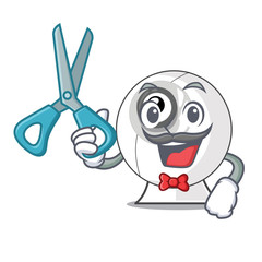 Barber webcam in the shape of mascot