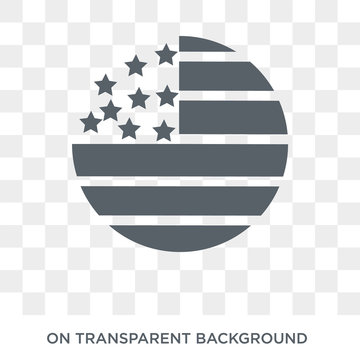 Usa icon. Trendy flat vector Usa icon on transparent background from United States of America collection. High quality filled Usa symbol use for web and mobile