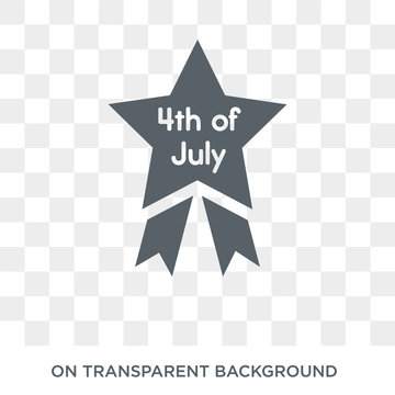 4th of july icon. Trendy flat vector 4th of july icon on transparent background from United States of America collection. High quality filled 4th of july symbol use for web and mobile