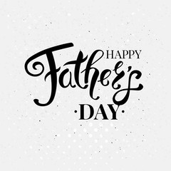 Fathers day card vector illustration. Typographic text.