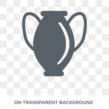 Manna Jar icon. Trendy flat vector Manna Jar icon on transparent background from Religion  collection. High quality filled Manna Jar symbol use for web and mobile