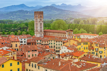 Fotomurales - Lucca landscape, Tuscany, Italy, Europe