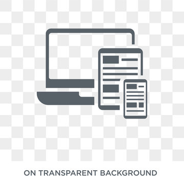 Responsive icon. Trendy flat vector Responsive icon on transparent background from Programming collection. High quality filled Responsive symbol use for web and mobile