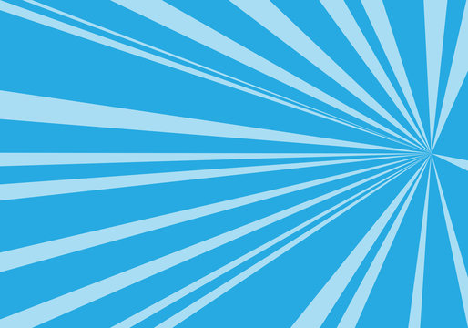 Abstract blue tone speed zoom direction for comic background vector illustration.