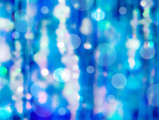 The unfocused background of  iridescent blue water for text, banner, poster, label, sticker, layout