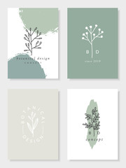 Botanical Design Card Templates