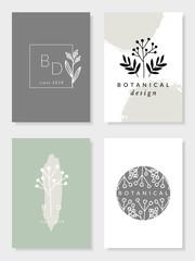 Botanical Design Card Templates