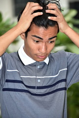 Diverse Male Under Stress