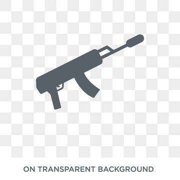 Kalashnikov icon. Kalashnikov design concept from Army collection. Simple element vector illustration on transparent background.