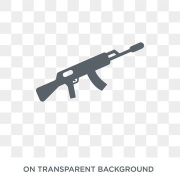 AK 47 icon. AK 47 design concept from Army collection. Simple element vector illustration on transparent background.