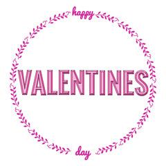 Happy valentines day typography phrase.
